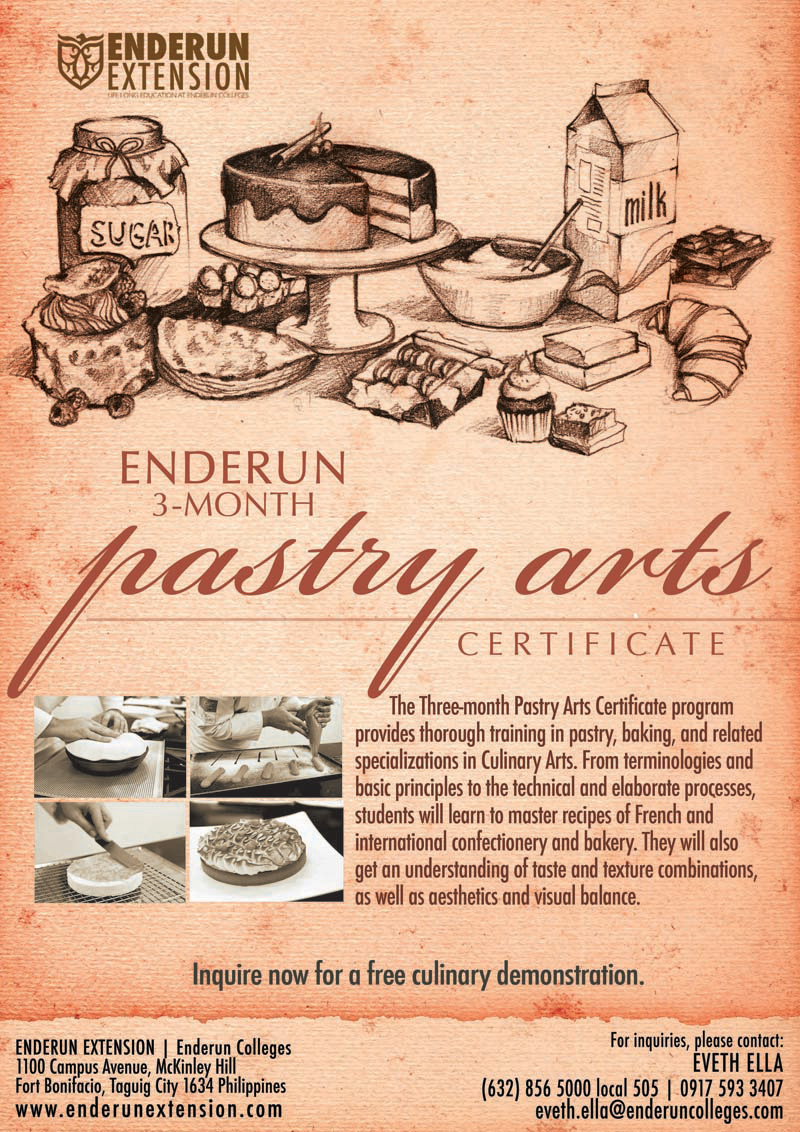 Pastry arts certificate the butchers wifey advertisements 1betcityfo Images